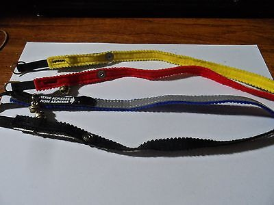 4 cat collars Red, Black, Blue and Yellow