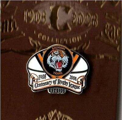 Tigers Century Of Australian Rugby League 100 Years Pin Badge New