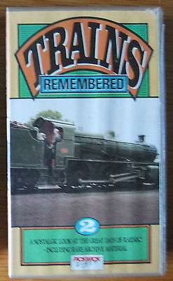 TRAINS REMEMBERED Vol 2, Pickwick Video - VHS video tape - STEAM, RAIL
