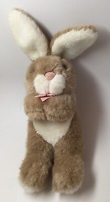 Applause Tan & White Plush Easter Bunny Rabbit Stuffed Animal Toy 13""
