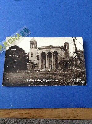 St Brides Abbey Milford Haven Pembrokeshire Real Photo