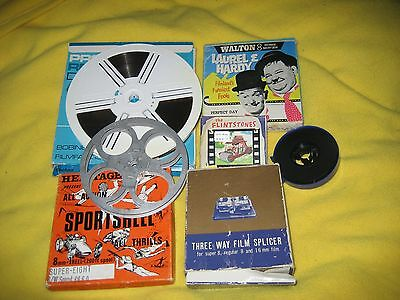 8mm Films Daredevil Drivers Exotic Nippon the White House L+H Cartoon mixed lot