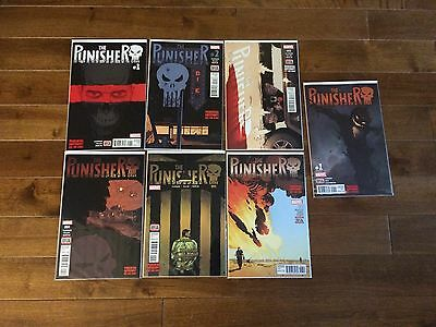 Punisher 2016 Marvel Comic Lot of 9 #1 to #8 + Annual #1
