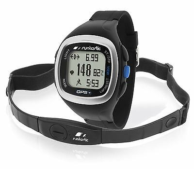 Runtastic GPS Watch Black+Heart Rate Monitor Chest Strap+Warranty 2years