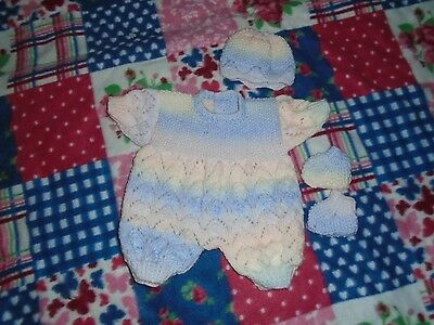 Brand New  Hand Knitted Dolls Clothes To Fit 18-20 In Baby Doll
