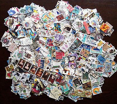 Huge collection of over 1,200 different used GB large stamps, many high values