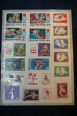 Collection Of 20 Magyar (Hungarian) Sport Themed Stamps.