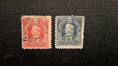 Chile 1901 Early Issue Fine Used 2c & 5c.
