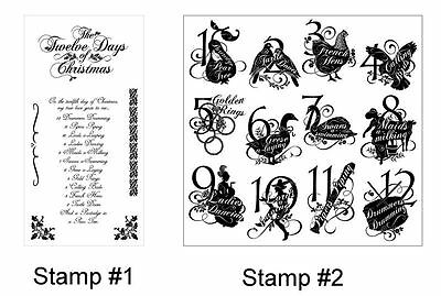 """Graphic 45 """"twelve Days Of Christmas""""  Cling Stamp Set 1& 2 Scrapjack's Place"""