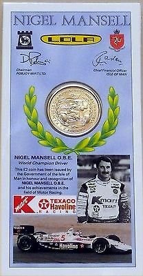 Nigel Mansell £2 Coin. 100% Mint. 1993 Indianapolis 500 Limited Edition Pack