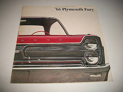 1966 Plymouth Fury Sales Brochure Catalog 20 Pages Color No Dealer Stamp