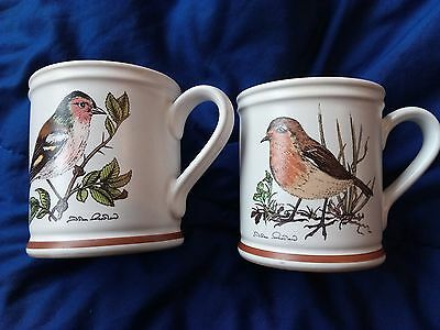 Denby Birds Of A Feather Chaffinch And Robin Mugs
