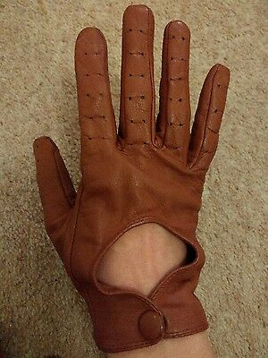 Topshop Tan Leather Driving Gloves