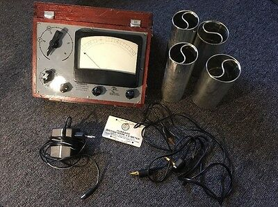 Scientology British Mark V E-Meter L Ron Hubbard w/Box, Cans, Leads and Charger