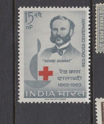 "£1.49 start - A MINT ""INDIA"" RED CROSS CENT. issue SG424 (1963)."