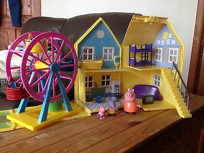 Peppa Pig House Ferris Wheel And Figures