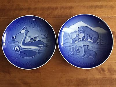 B & G Copenhagen Beautiful Porcelain Mothers Day collectable Plates 1978 & 1985