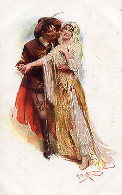 """""""Gipsy Love"""" at the Grand Theatre, Blackpool, 1st June 1914 advertising postcard"""
