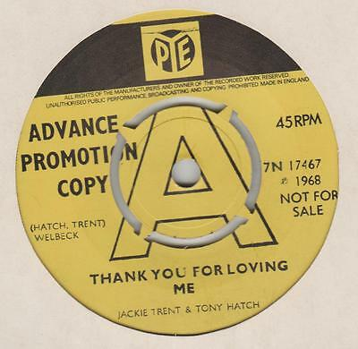 Jackie Trent Tony Hatch Thank you for loving me Pye 7N.17467 EX Demo