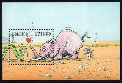 "NAMIBIA MNH 2000 ""Yoka the Snake"" Cartoon Minisheet"