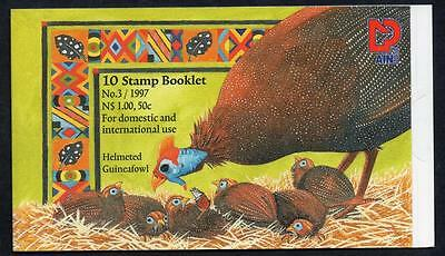 NAMIBIA MNH 1997 Helmeted Guineafowl Booklet Complete