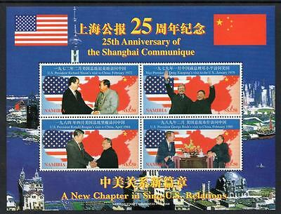 NAMIBIA MNH 1997 The 25th Anniversary of Communique of Shanghai Minisheet
