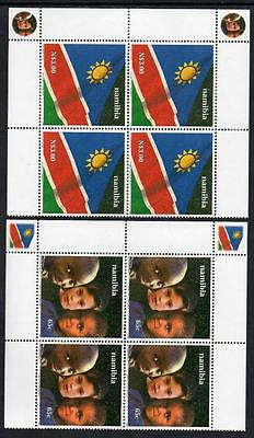 NAMIBIA  MNH 2000 SG863-64 10th Anniversary of Independence , Blocks of 4