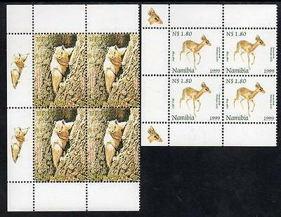 "NAMIBIA  MNH 1999 SG820-21 ""Fun Stamps for Children"" , Blocks of 4"