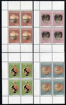 NAMIBIA  MNH 1996 SG697-700 Early Pottery, Blocks of 4