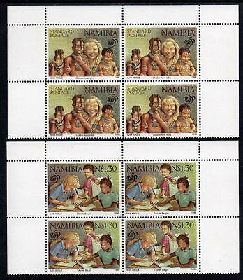 NAMIBIA MNH 1996 SG686-87 50th Anniversary of UNICEF Blocks of 4