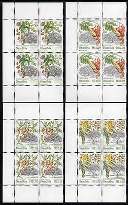 NAMIBIA  MNH 1997 SG740-43 Trees, Blocks of 4