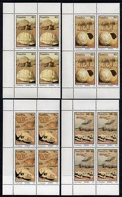 NAMIBIA MNH 1995 SG663-66 Fossils Block of 4