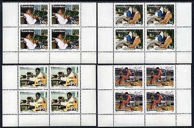 NAMIBIA MNH 1992 SG602-05 Integration of the Disabled Blocks of 4