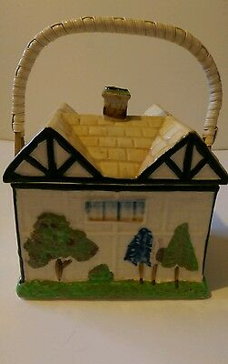 "Vintage Ceramic""cottage"" Biscuit Barrel"