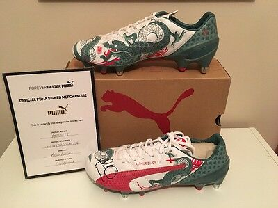 Liverpool Player Adam Lallana Signed Boots. Official Certified Puma Items