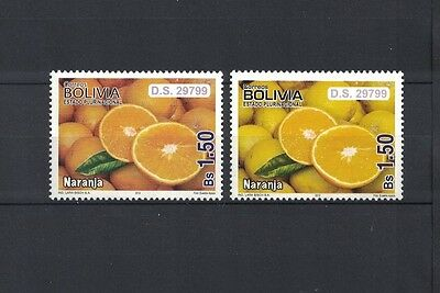 Bolivien Bolivia 2012 stamp different colour ** / mnh Orange orange naranja