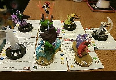 7 Super Rare Chase Limited Edition Chaos War Marvel Heroclix Set Figures