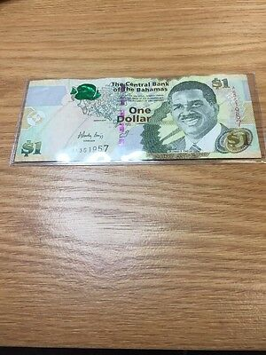 $1 Central Bank Of The Bahamas 2008