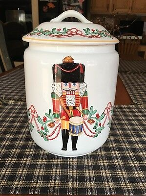 """Block Portugal """"Whimsey Christmas Cookie Jar"""" Excellent Condition"""