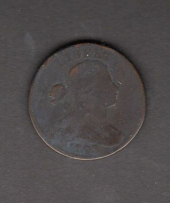 US 1803 Draped Bust Large Cent Coin in G Good Condition