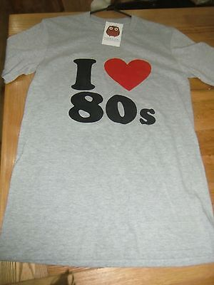 "BNWT Harper And Lewis Vintage I Love 80""s T shirt Size Small"
