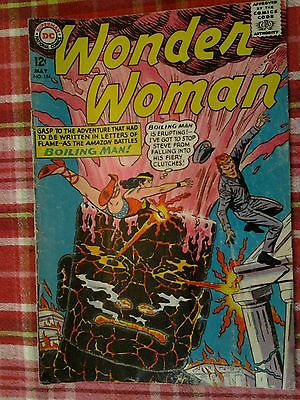 Dc Comics 1965 Wonder Woman #154 Boiling Man Vg Silver Age Combined Shipping