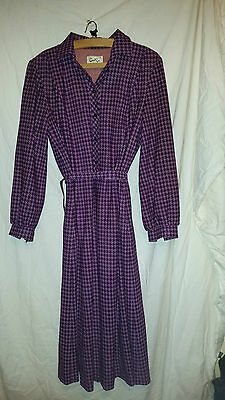 True Vintage Ladies Burgandy/purple Polyester Lined Dress Cest Ca Holland 38 Che