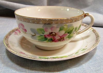 Beautiful Nippon Handpainted Cup & Saucer