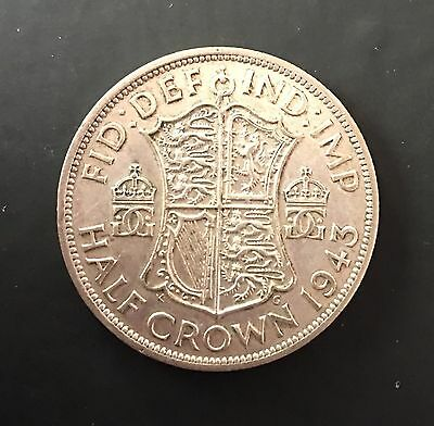 1943 George VI Silver Half Crown - EF