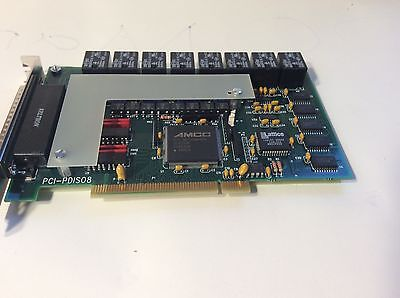 MCC PCI-PDIS08,,8 Channel High Voltage & Current Digital I/O Board  193806A-01