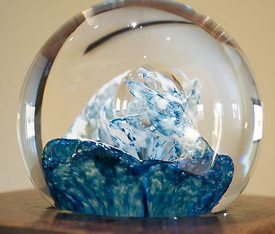 Caithness Quicksilver Paperweight by Colin Terris Fully Marked 1998/9