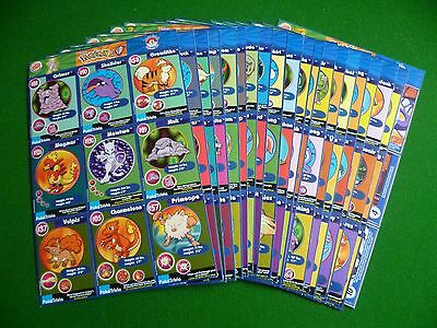 Full set of 180 Burger King Pokemon Cards complete collection on 20 Sheets