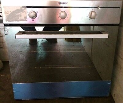 Indesit FIM21KBIX Conventional Electric Built In Single Oven in Stainless Steel
