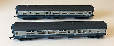 2x assorted hornby mk2 coaches br blue&grey